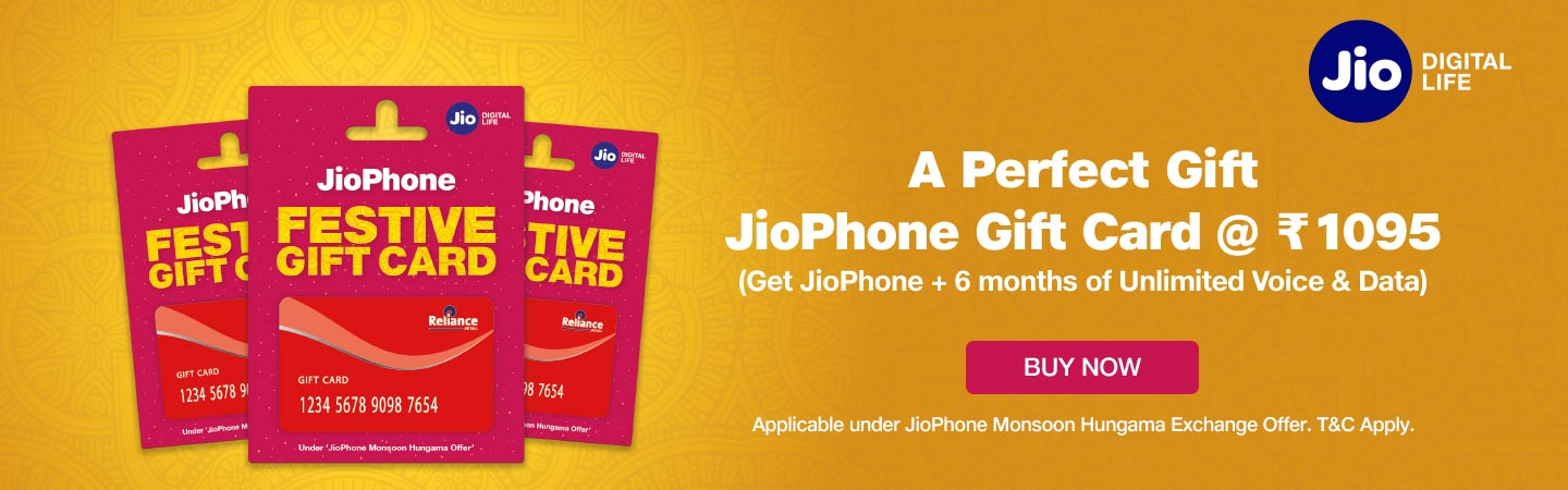JioPhone Gift Card - Get Jio Phone with Unlimited Voice & Data