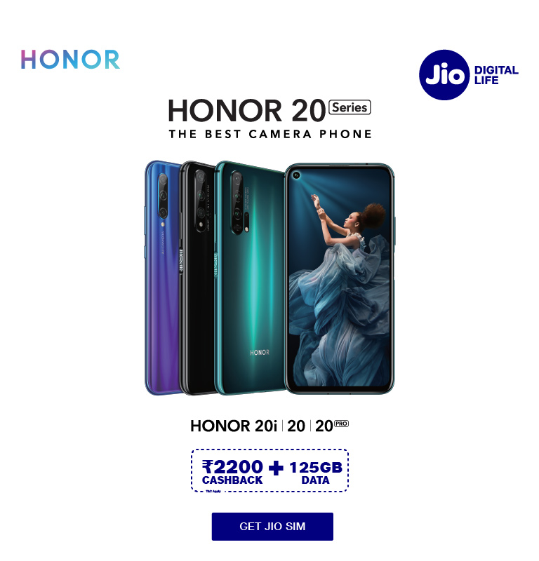 Honor 20 Data Offer