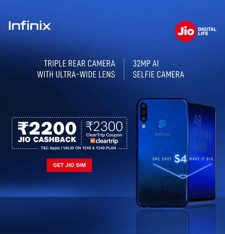 jio infinix s4 offer