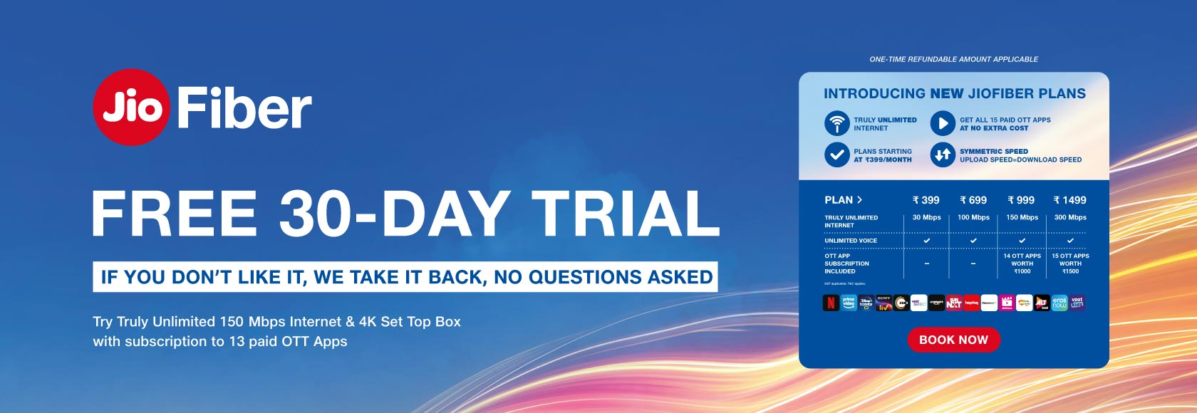 JioFiber - Free 30-Day Trial