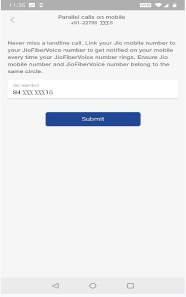 JioFiberVoice-Parallel Ringing On