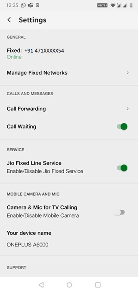 Disable your JioFiberVoice Service