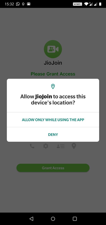 JioJoin-Allow Access