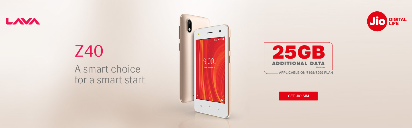 Lava Z40 Data Offer