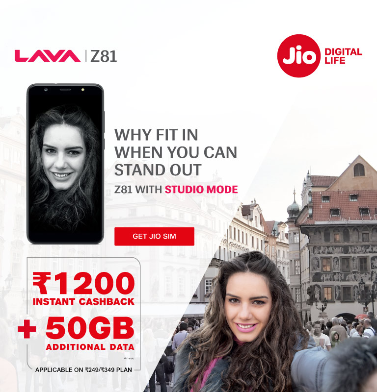 jio lava z81 offer