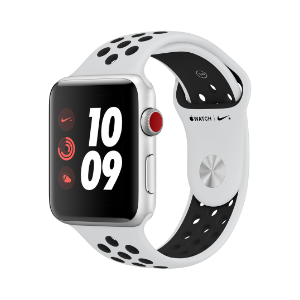 Apple Watch Nike+ (GPS + Cellular) 42mm S AL CS with P PL/BL Sport Bnd