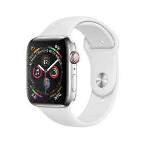 Apple WatchS4 44mm SS Cs WH S Bnd/Cel