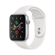 Apple Watch S5 GPS 44mm SL AL WH Sp Band