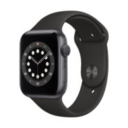Apple Watch S6 GPS 44mm SG AL BLK Sp Bd