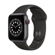 Apple Watch S6 CEL 40mm SG AL BLK Sp Bd