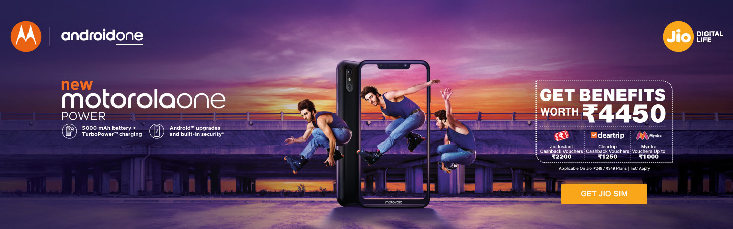 jio motorola one power offer