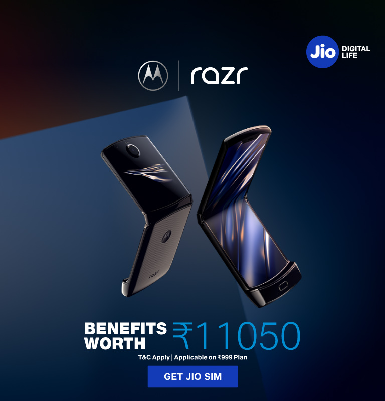 Jio Motorola Razr Offer 2020