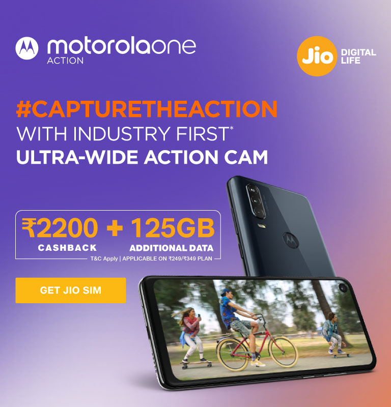 Motorola One Action Data Offer