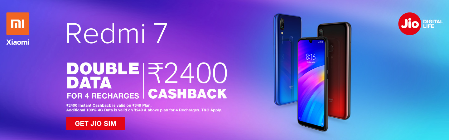 jio redmi 7 offer