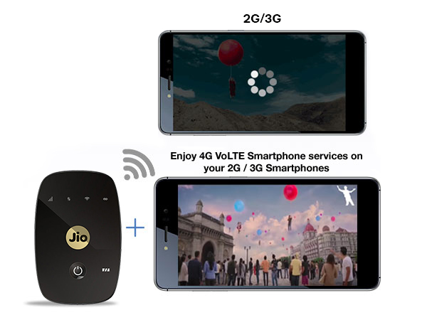 Reliance jio 4G offer on JioFI