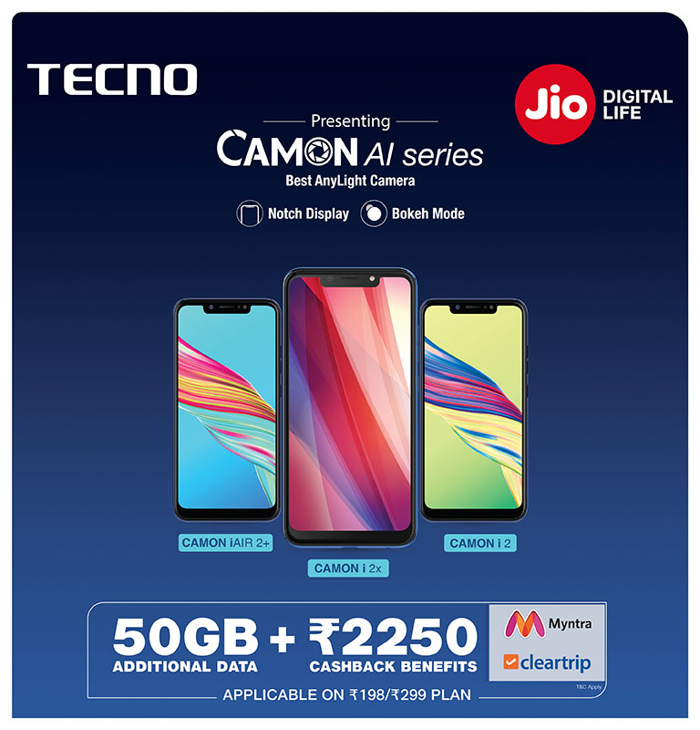 jio tecno camon offer