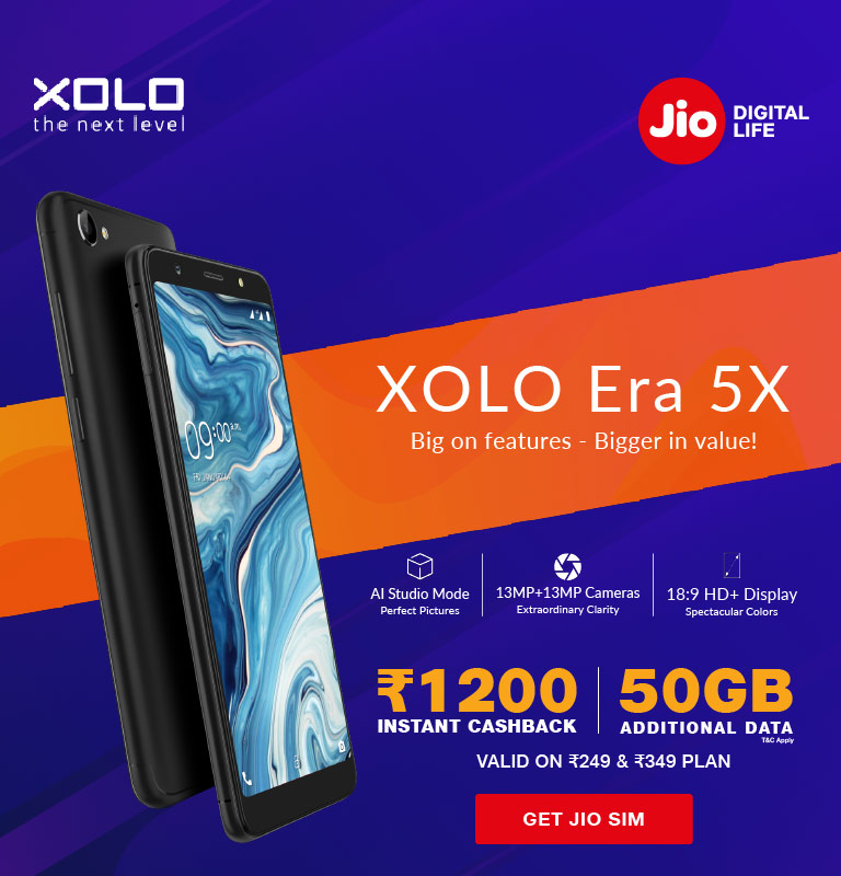 Jio Xolo Era 5X Offer