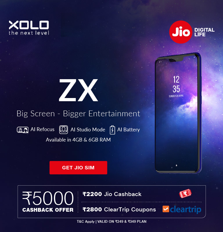 Jio Xolo ZX Offer